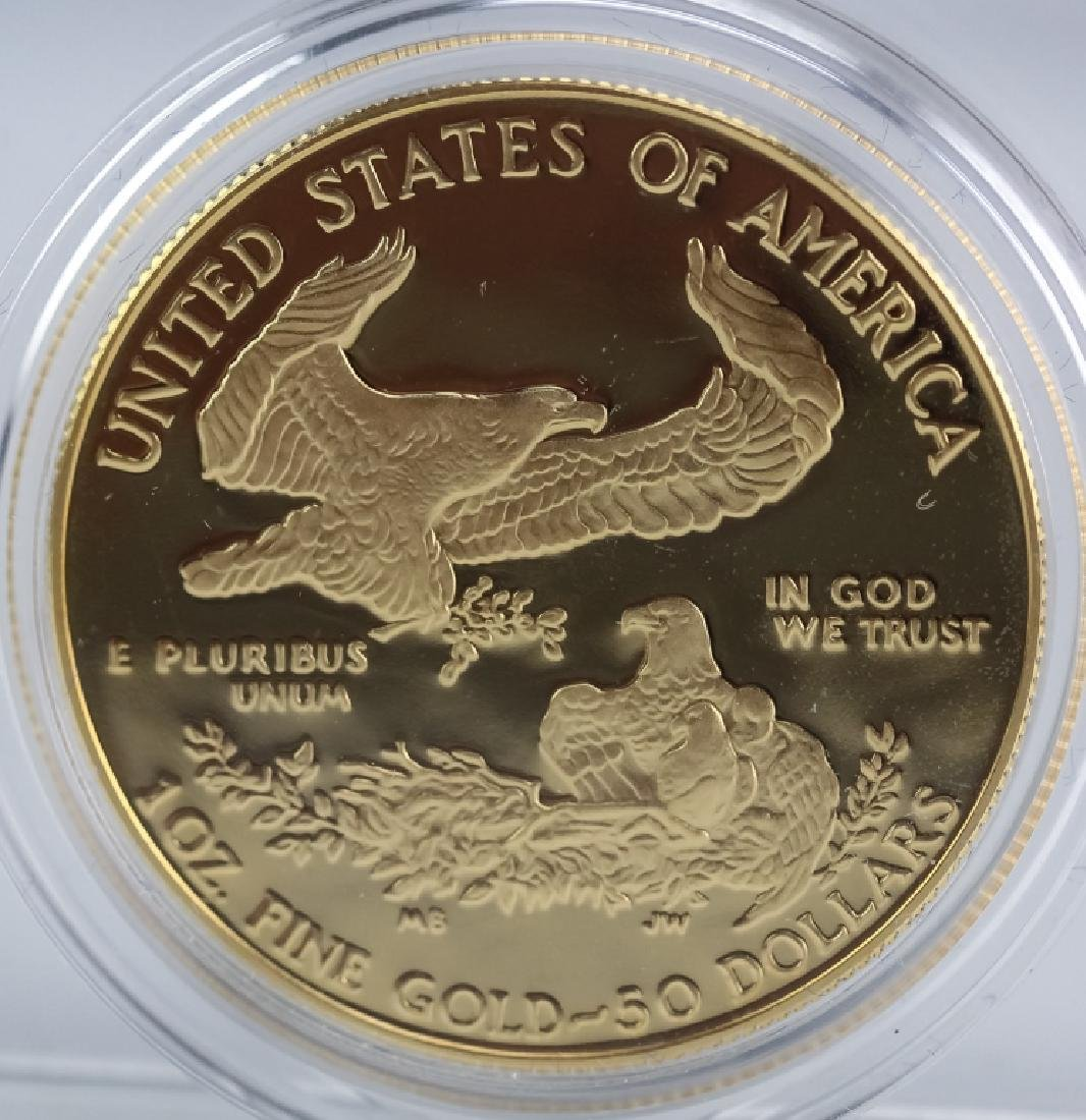 1987 1oz $50 Proof Gold American US Eagle Coin - 2