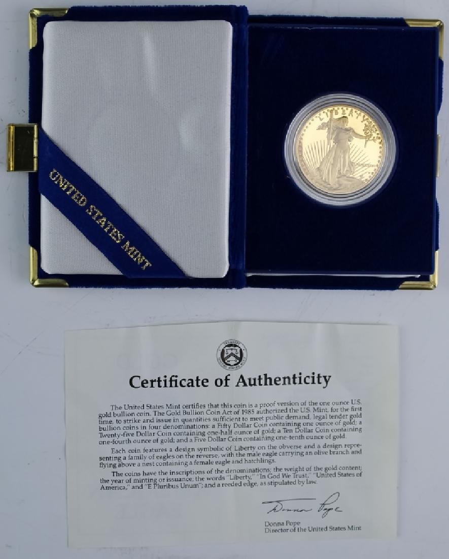 1987 1oz $50 Proof Gold American US Eagle Coin - 3