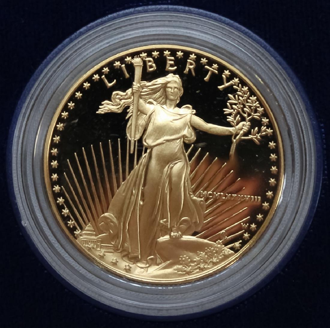 1988 1oz $50 Proof Gold American US Eagle Coin