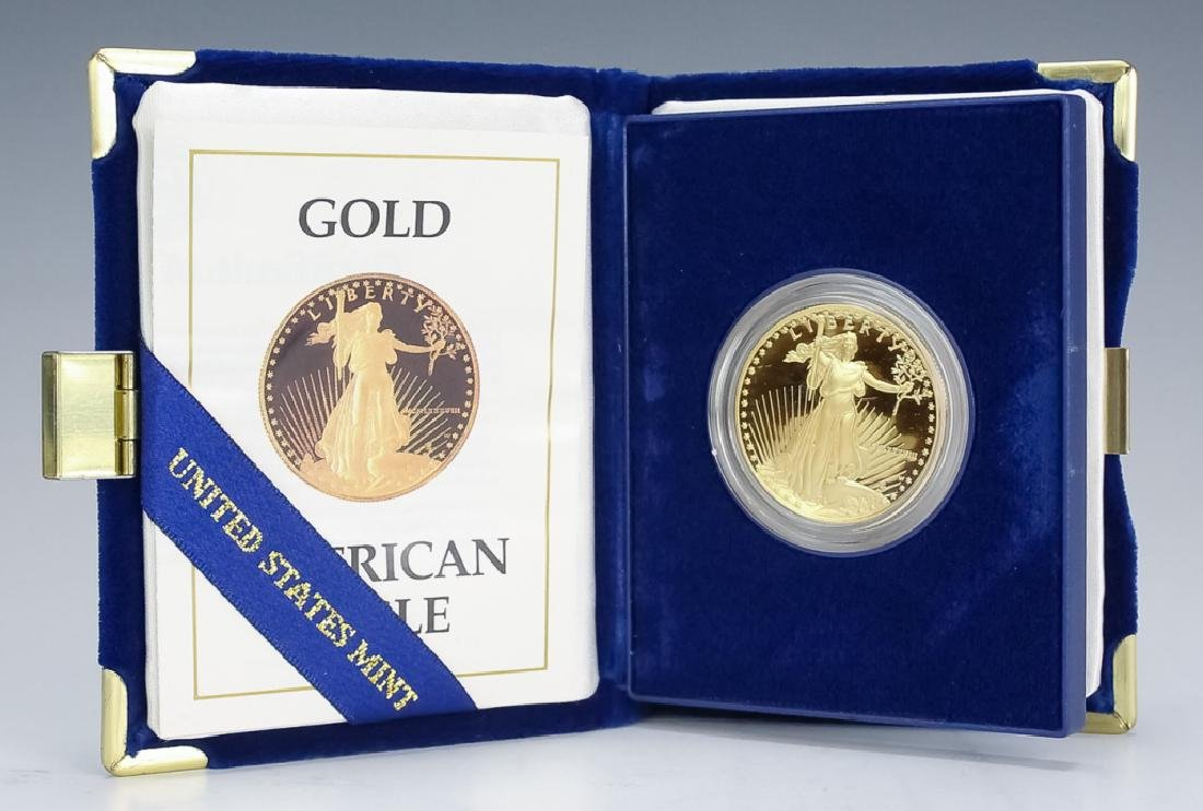 1988 1oz $50 Proof Gold American US Eagle Coin - 2