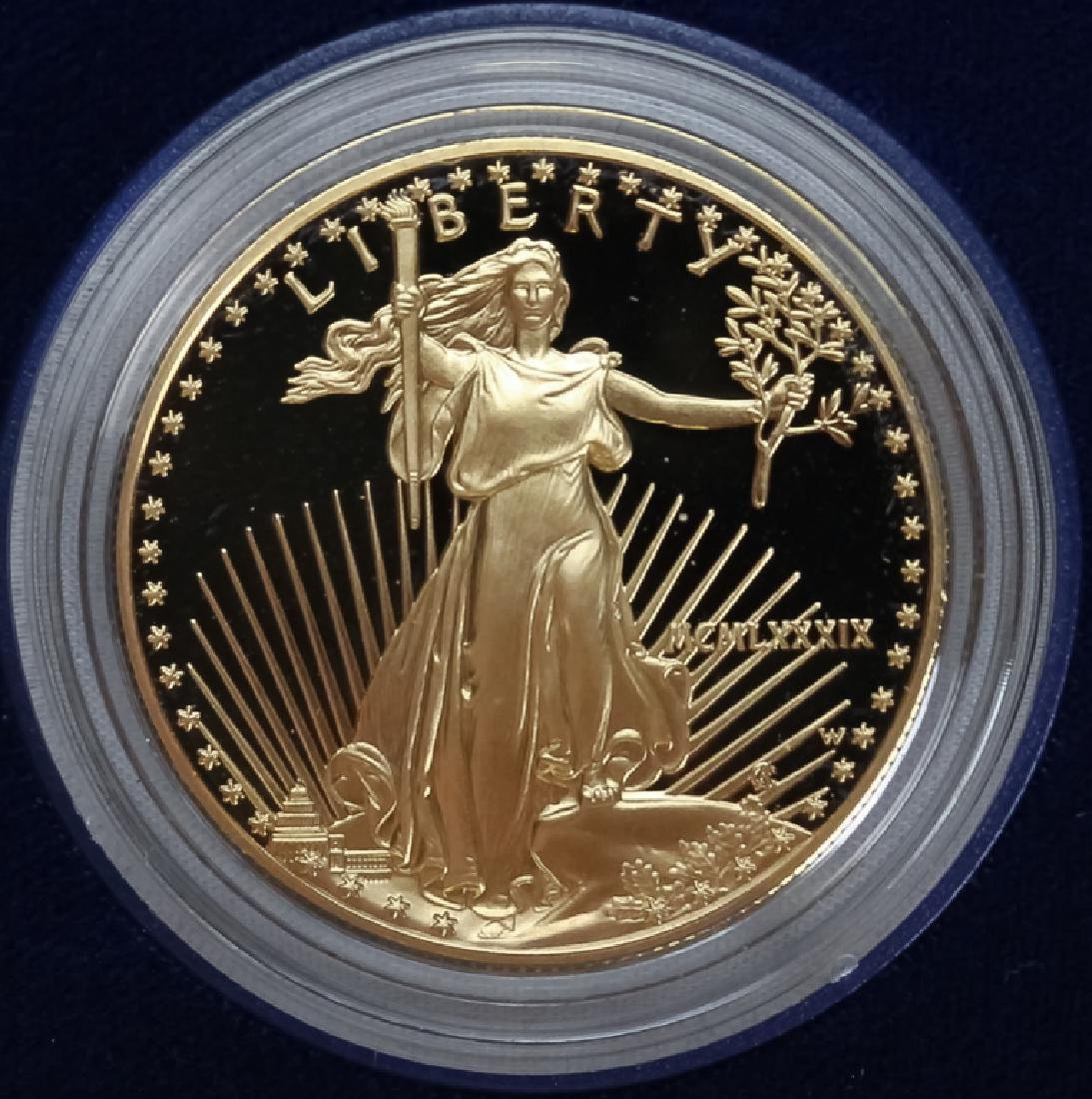 1989 1oz $50 Proof Gold American US Eagle Coin