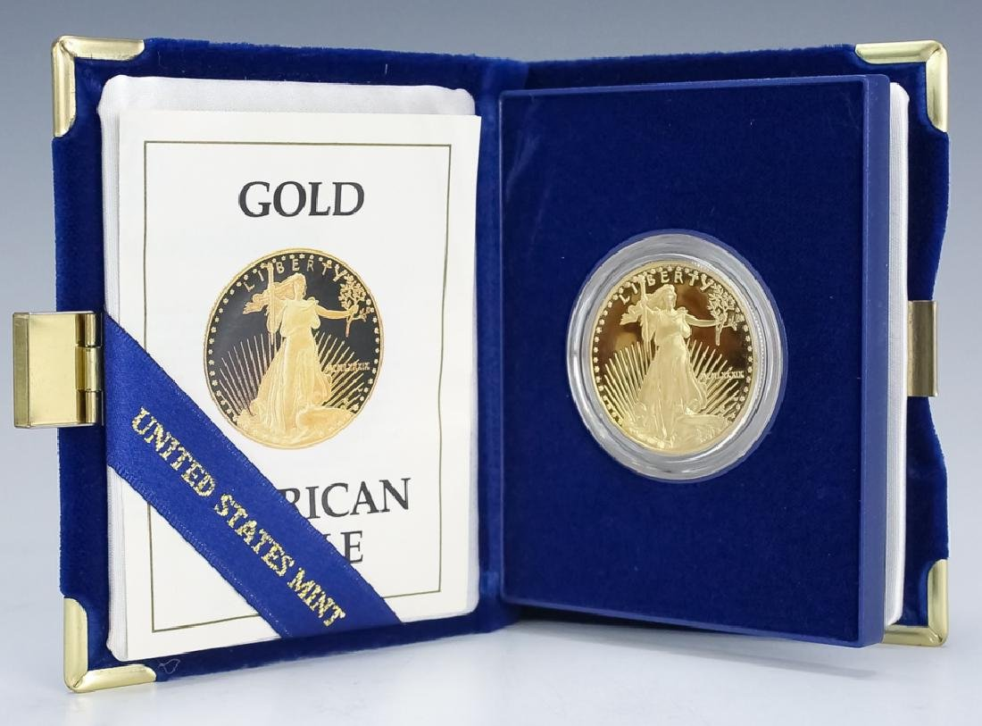 1989 1oz $50 Proof Gold American US Eagle Coin - 2