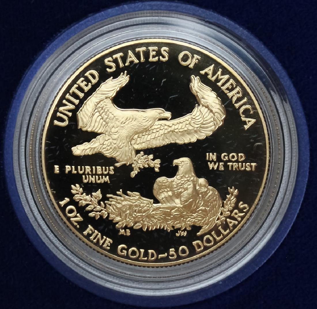 1989 1oz $50 Proof Gold American US Eagle Coin - 3