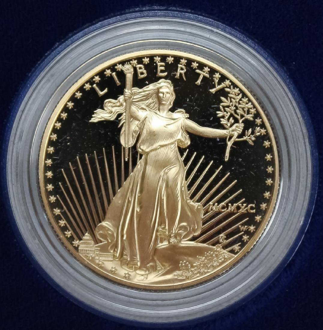 1990 1oz $50 Proof Gold American US Eagle Coin