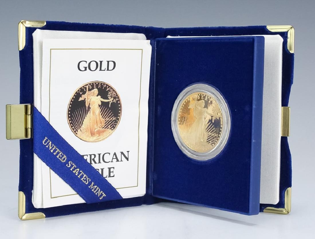 1990 1oz $50 Proof Gold American US Eagle Coin - 2
