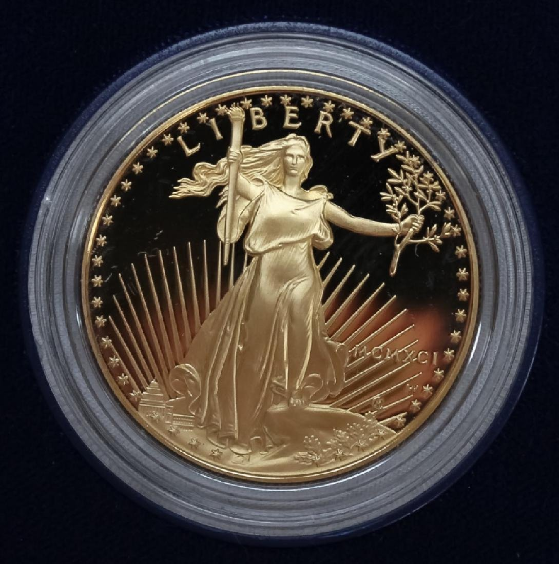 1991 1oz $50 Proof Gold American US Eagle Coin