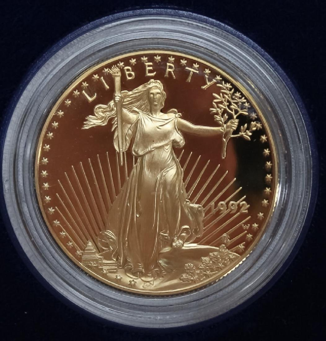 1992 1oz $50 Proof Gold American US Eagle Coin