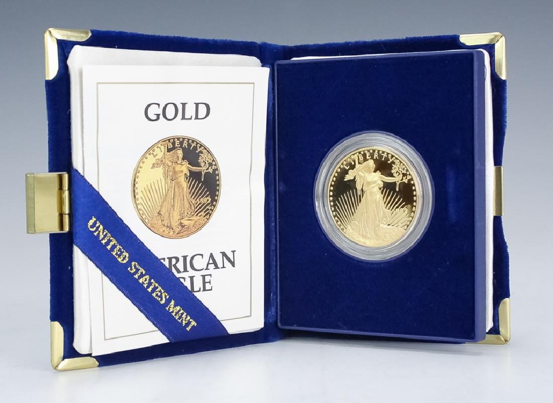 1992 1oz $50 Proof Gold American US Eagle Coin - 2