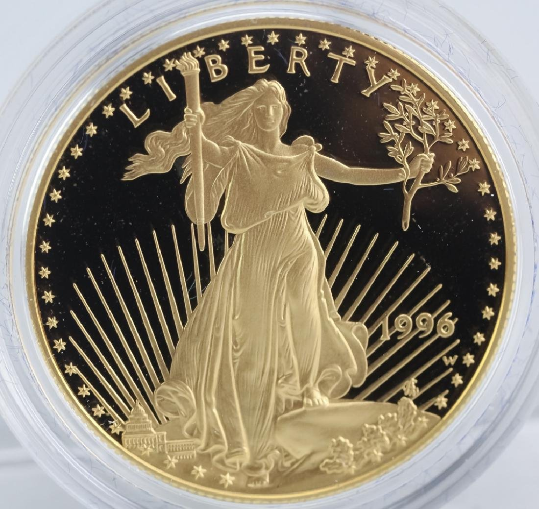 1996 1oz $50 Proof Gold American US Eagle Coin