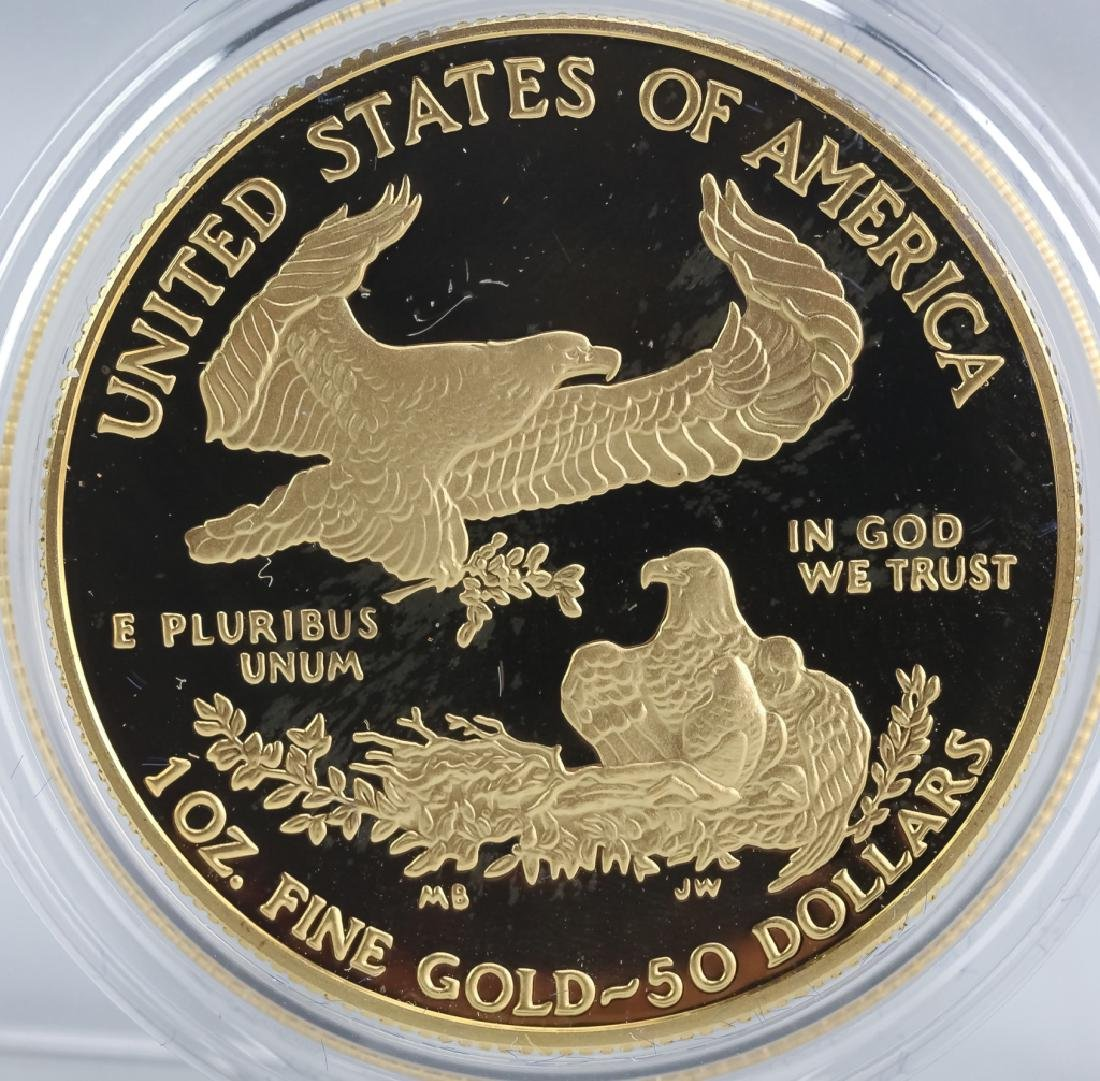 1996 1oz $50 Proof Gold American US Eagle Coin - 2