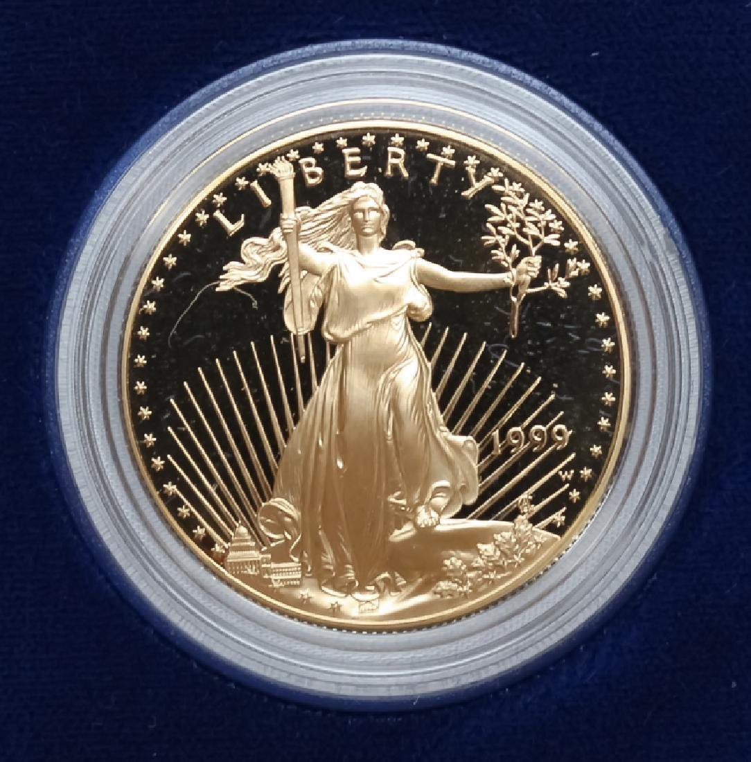 1999 1oz $50 Proof Gold American US Eagle Coin