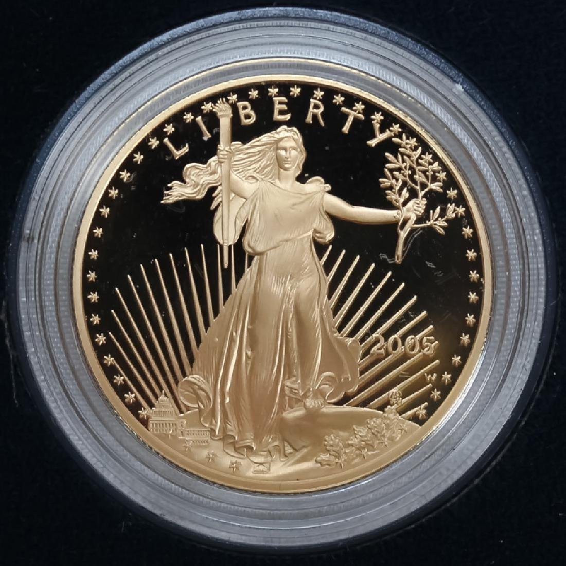2005 1oz $50 Proof Gold American US Eagle Coin