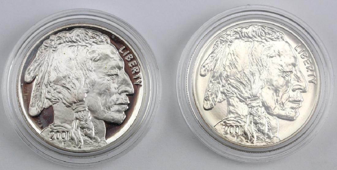 2001 American Buffalo 2pc Silver $1 Commem Set