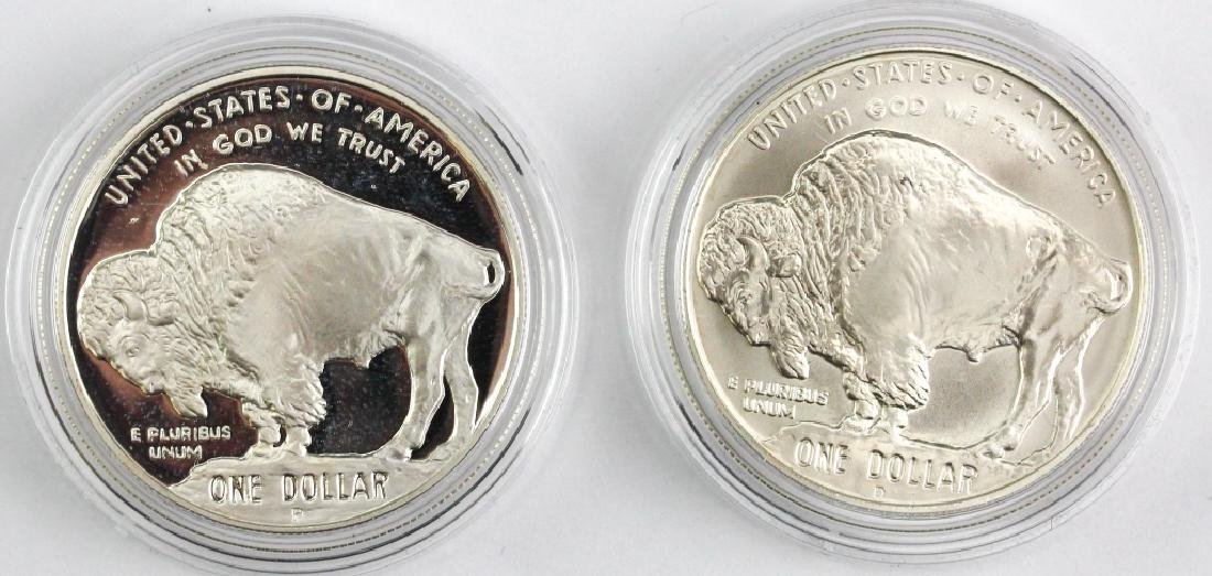 2001 American Buffalo 2pc Silver $1 Commem Set - 2