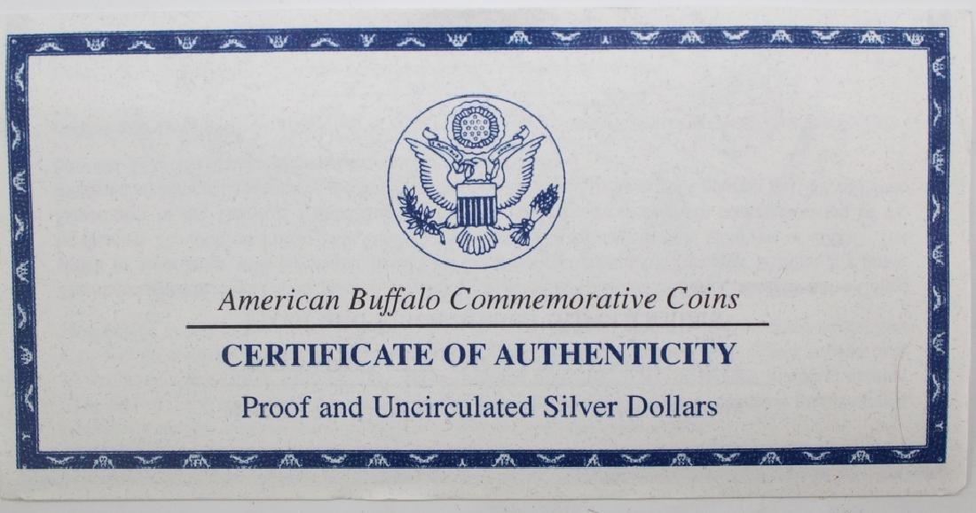 2001 American Buffalo 2pc Silver $1 Commem Set - 4