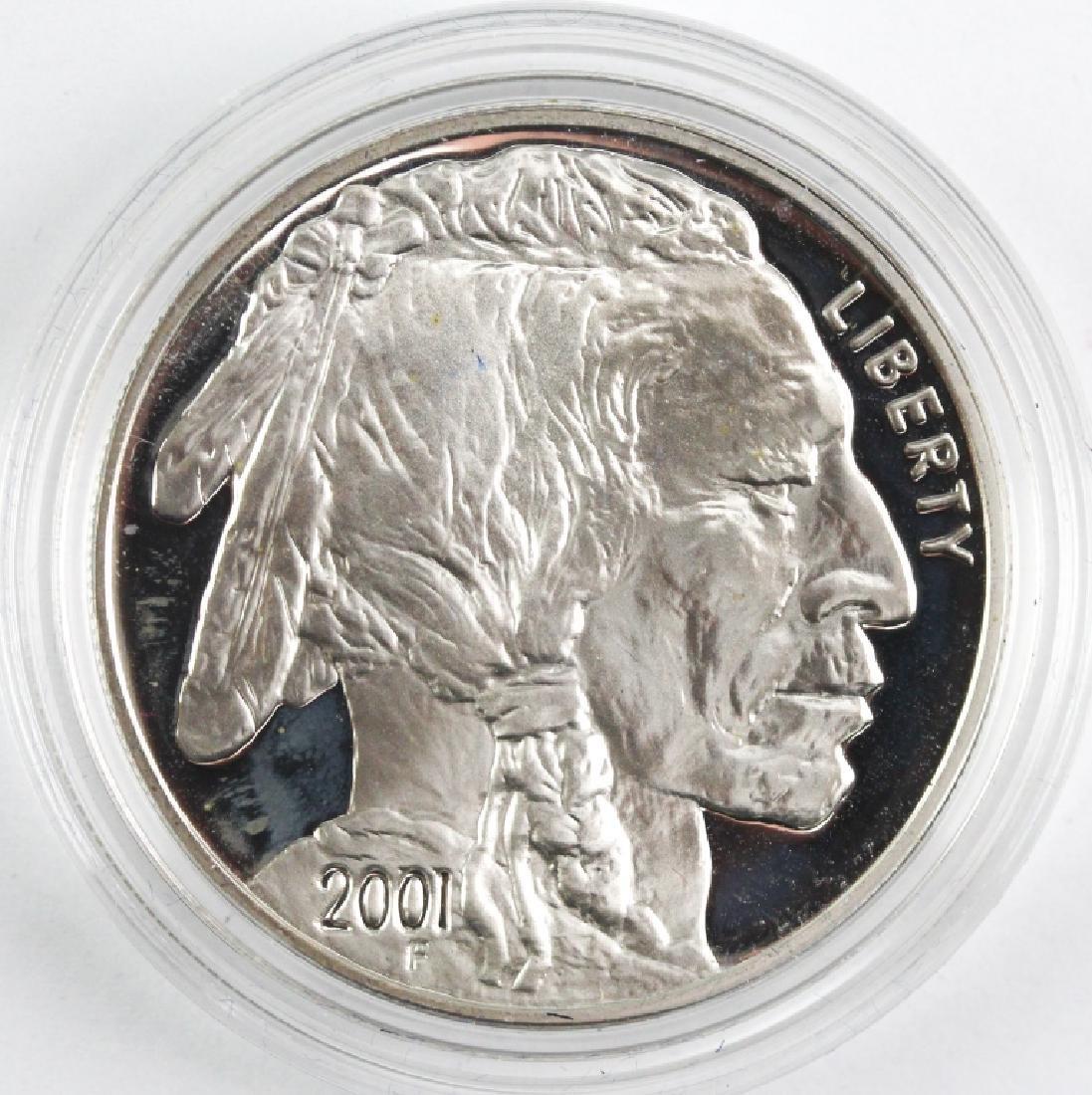 2001 American Buffalo 2pc Silver $1 Commem Set - 5