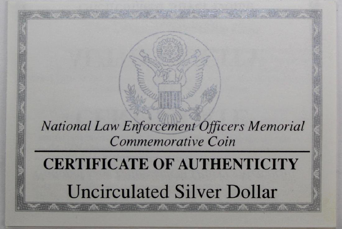 1997 Law Enforcement BU $1 Silver US Commemorative - 3