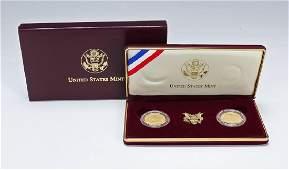 FDR Roosevelt 2pc $5 Gold BU & Proof Commem Set
