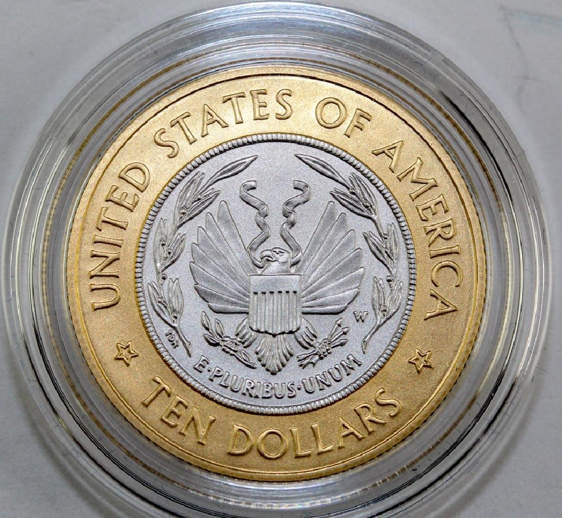 2000 Library Of Congress $10 Au Pt Bimetallic Coin - 2