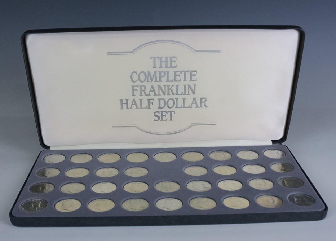 35 Piece Complete Franklin Silver Half Dollar Set