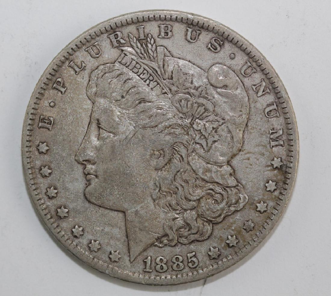 Lot 5 Morgan Silver $1 Dollars United States Coins - 4