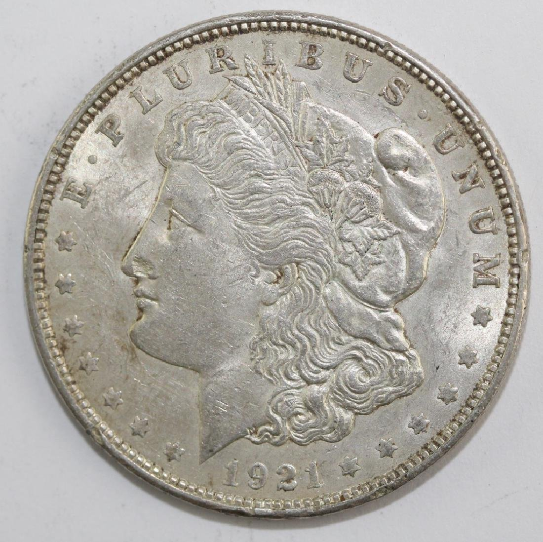 Lot 5 Morgan Silver $1 Dollars United States Coins - 7