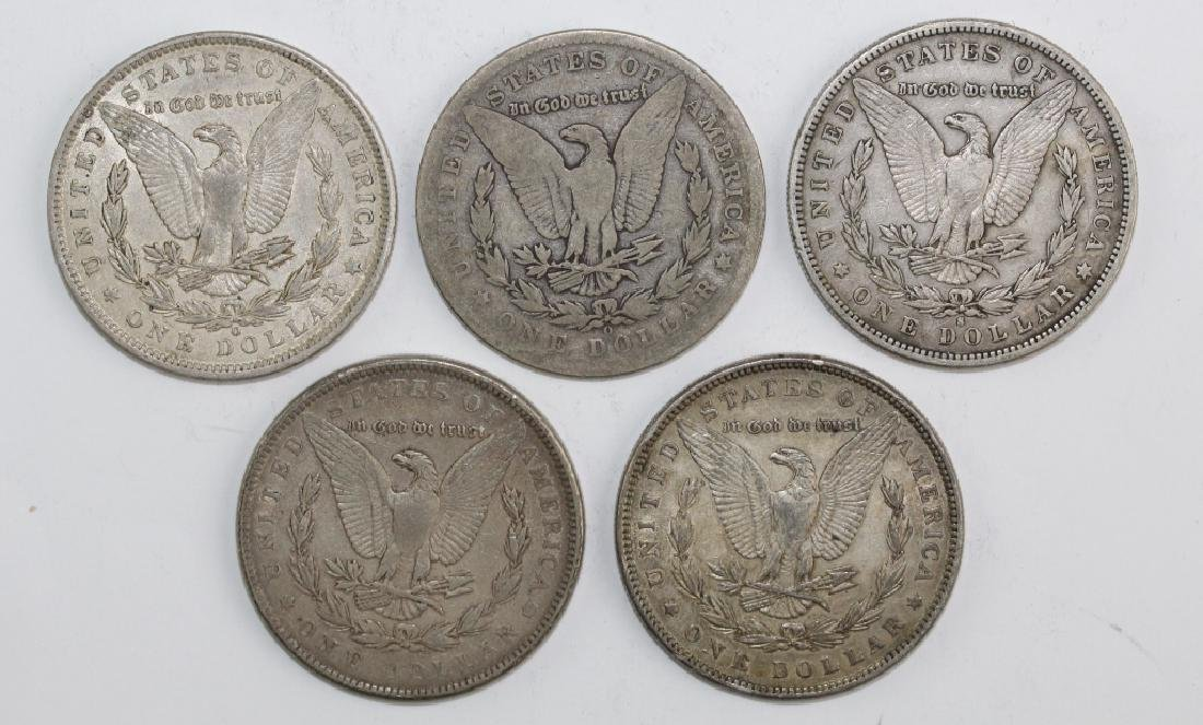 Lot 5 Morgan Silver $1 Dollars United States Coins - 2
