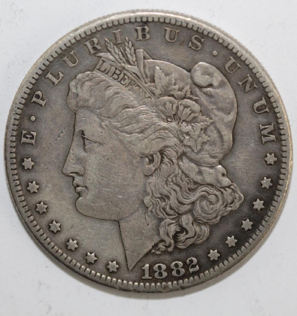 Lot 5 Morgan Silver $1 Dollars United States Coins - 5
