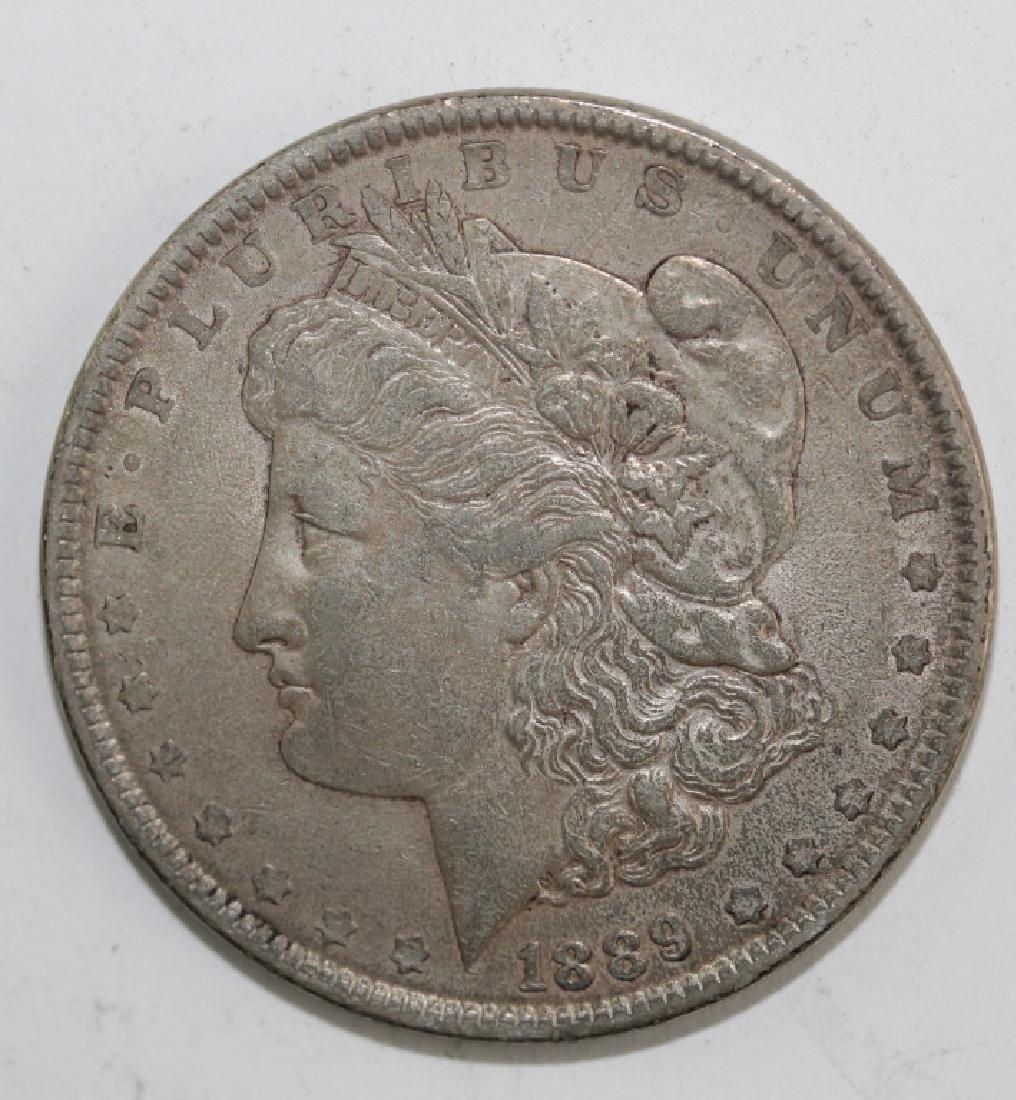 Lot 5 Morgan Silver $1 Dollars United States Coins - 6
