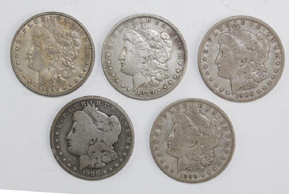 Lot 5 Morgan Silver $1 Dollars United States Coins