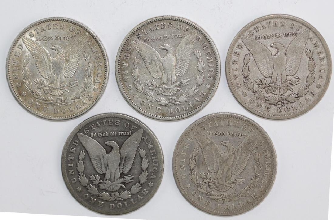 Lot 5 Morgan Silver $1 Dollars United States Coins - 7
