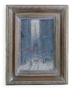 Johann Berthelsen NYC Winter Wall Street Painting