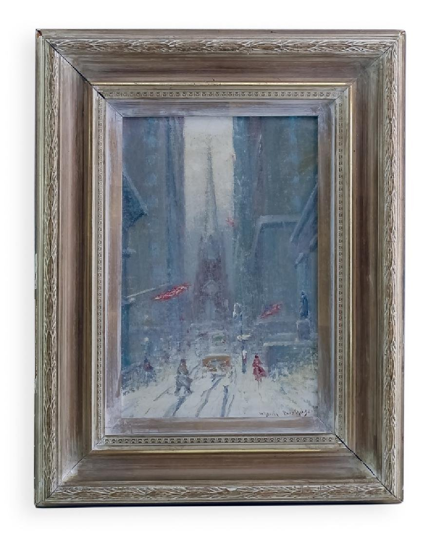 Johann Berthelsen NYC Winter Wall Street Painting
