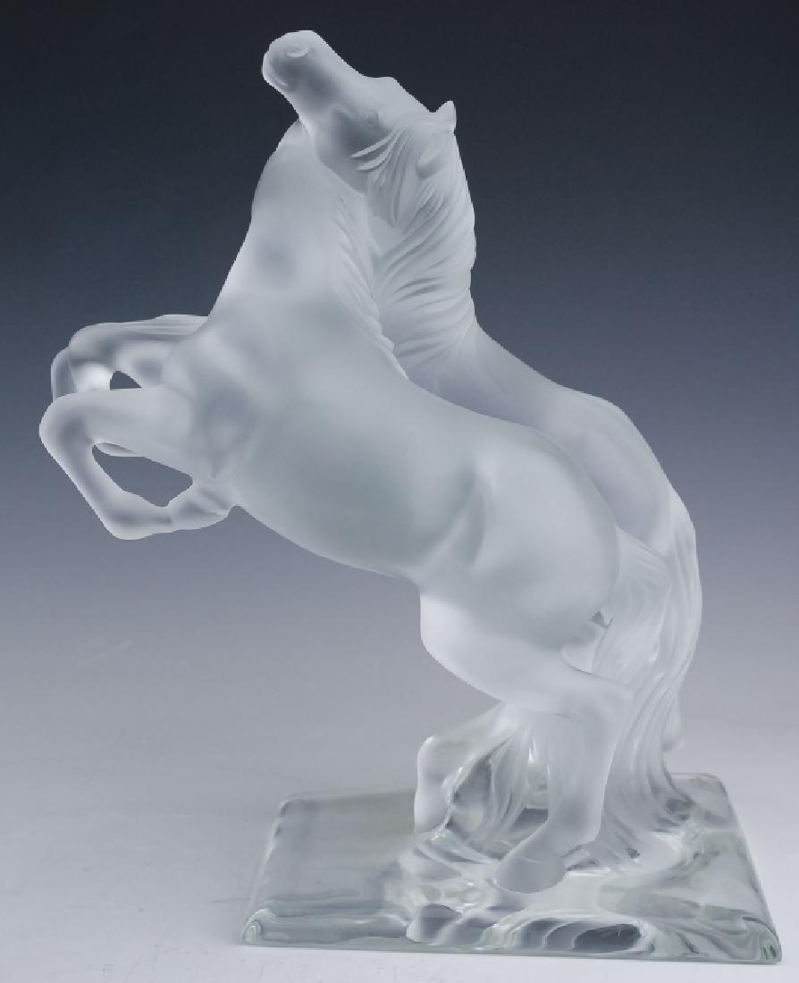 """LALIQUE Crystal """"Deux Chevaux Sauvages"""" Sculpture"""