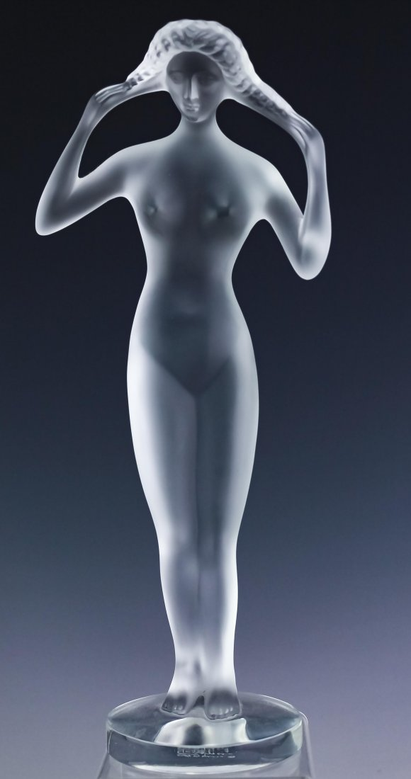 LALIQUE Crystal #16/99 Isis French Glass Sculpture
