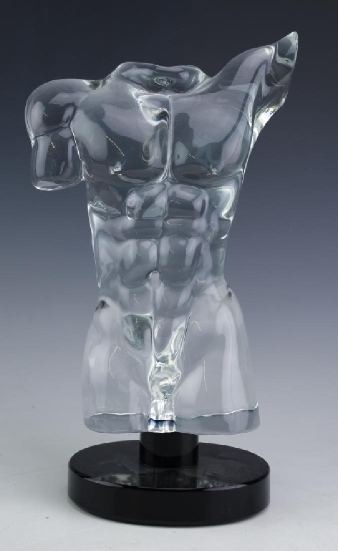 Dino Rosin Murano Art Glass Nude Adonis Sculpture