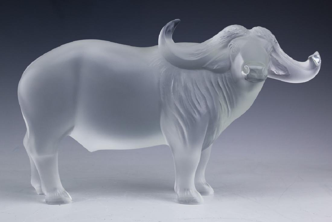 LALIQUE French Art Glass Water Buffalo Figurine