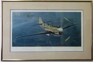 William Phillips b1945 American War Airplane Litho