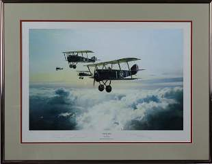 Robert Taylor Aviation Airplane Lithograph SIGNED