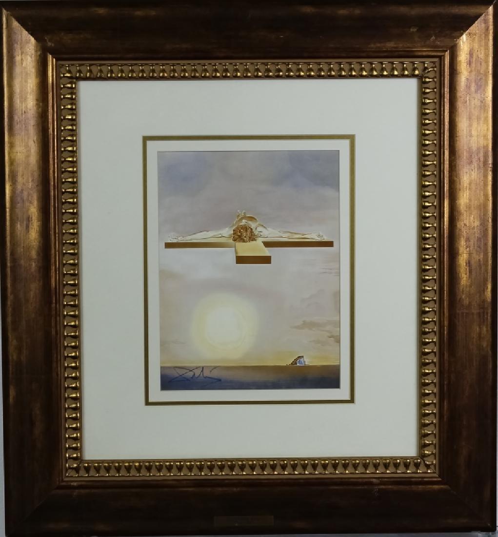 "Salvador Dali ""The Cross"" Pencil Signed Lithograph"