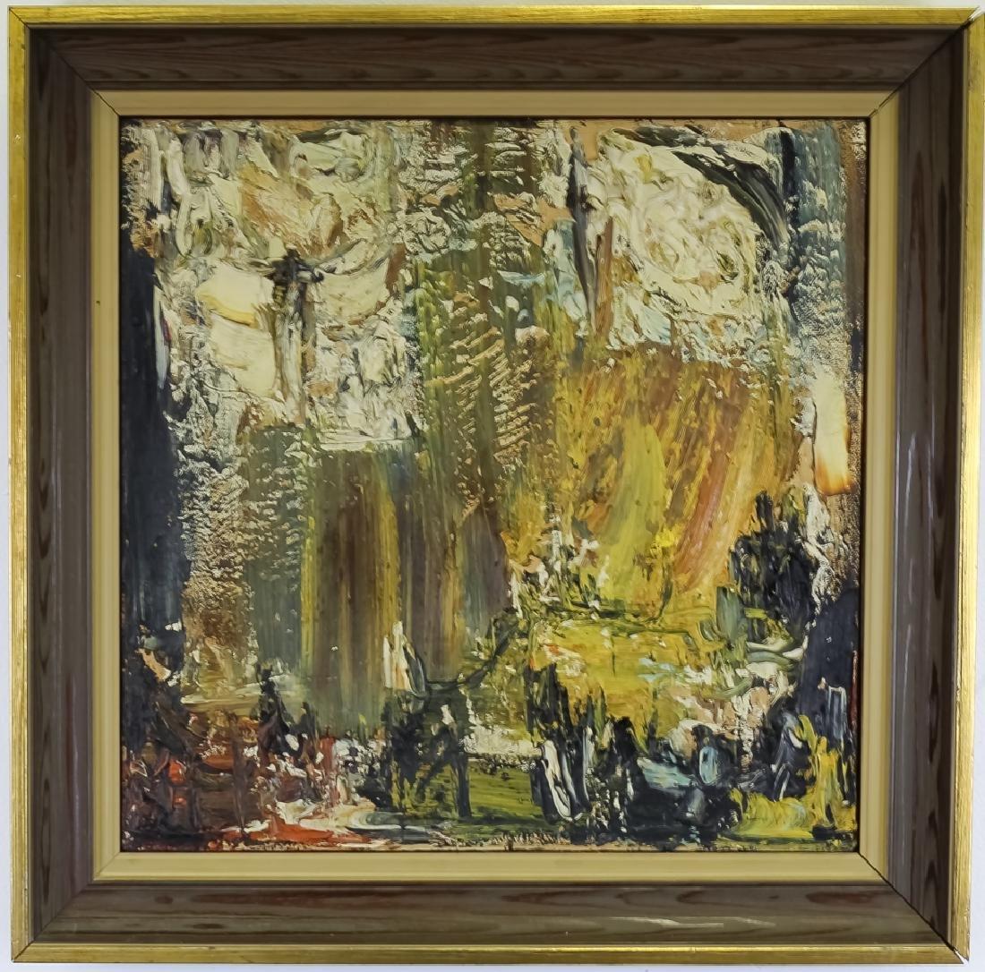 Joachim Probst 1913-1980 American Oil Art Painting