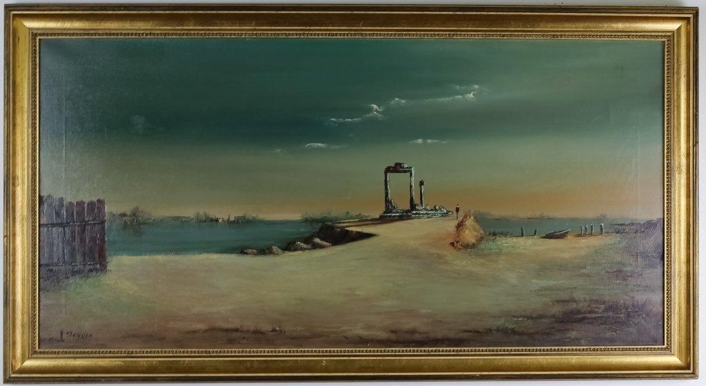 John Stancin American Surrealist Oil Art Painting