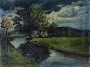 Egon Hofmann Austrian Landscape Oil Art Painting