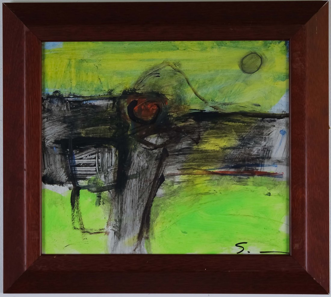 Mario Schifano Abstract Landscape Oil Art Painting