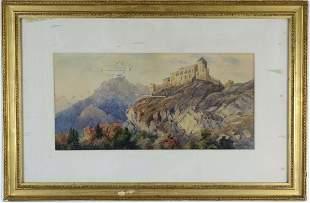 Helga Von Cramm Landscape Watercolor Art Painting