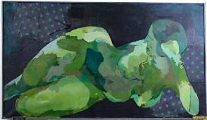 Leanne Weissler American M-Media Nude Painting