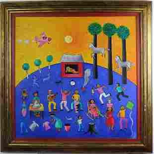 Jose Morillo b1975 Dominican Republic Oil Painting