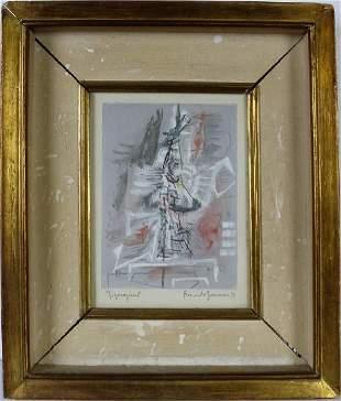 Riccardo Guarnieri b1933 Italian Abstract Painting
