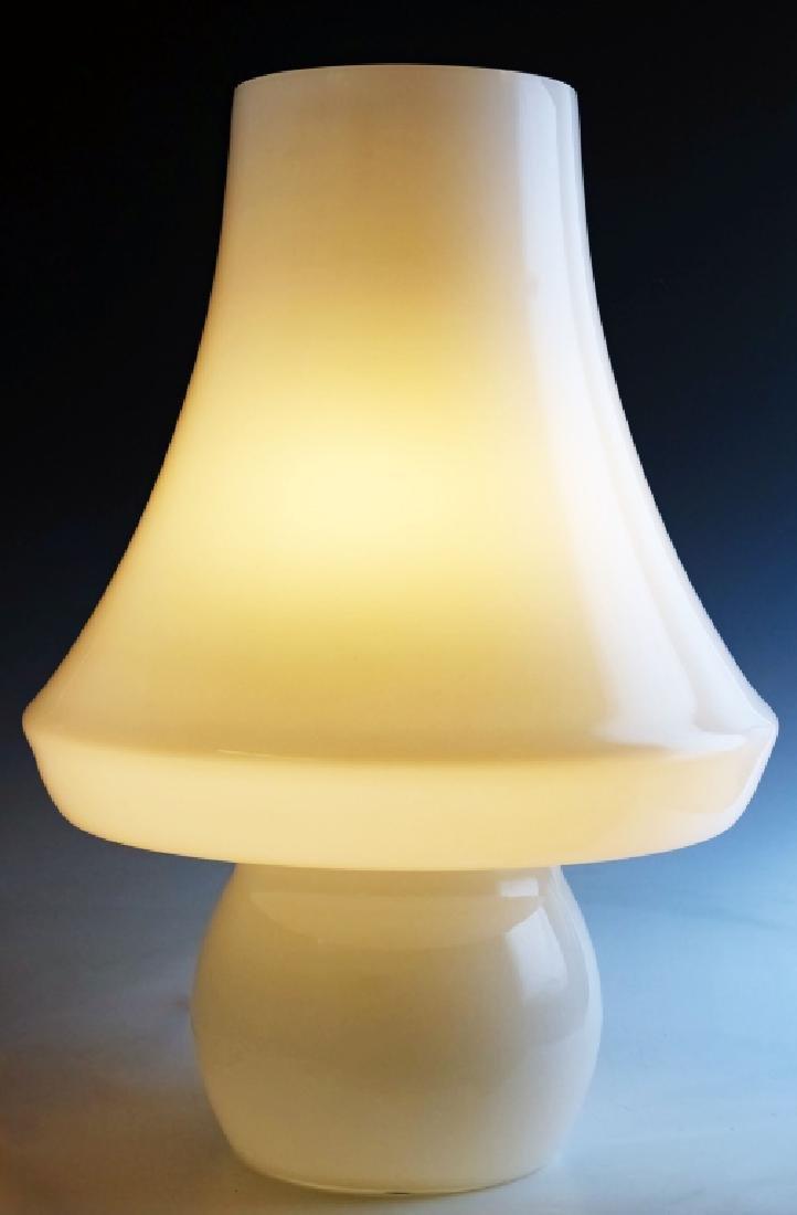Italian Murano Mushroom Art Glass Table Lamp LARGE