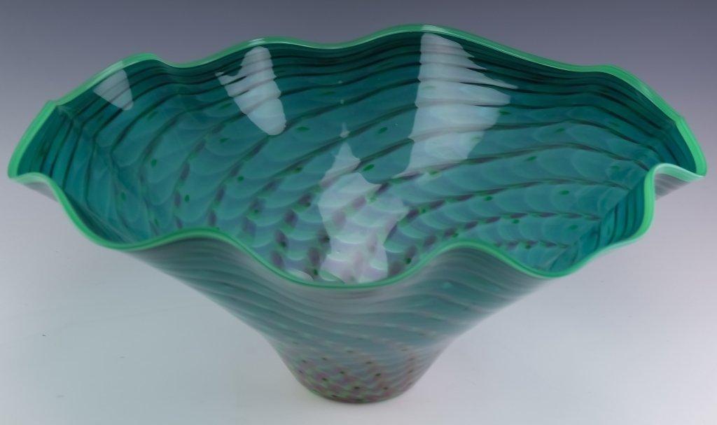 La Chaussee Studio Art Glass Centerpiece Bowl 1995